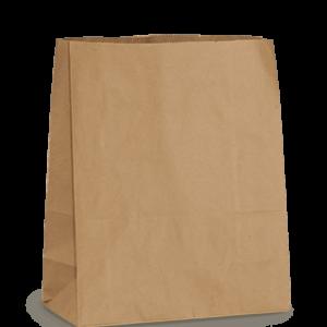 Пакет бумажный 325*180*70 крафт 1/500, шт