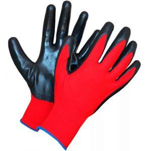 Перчатка нейлоновая с нитриловым покрытием суперлюкс красн/черн, пар