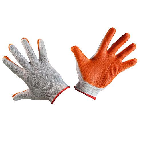 Перчатки нейлоновые с нитриловым покрытием оранжев 1/12, пар