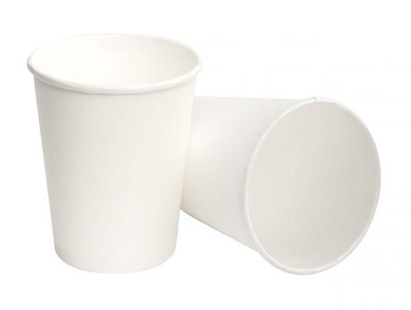 Стакан бумажный белый 350мл (50/1200), шт