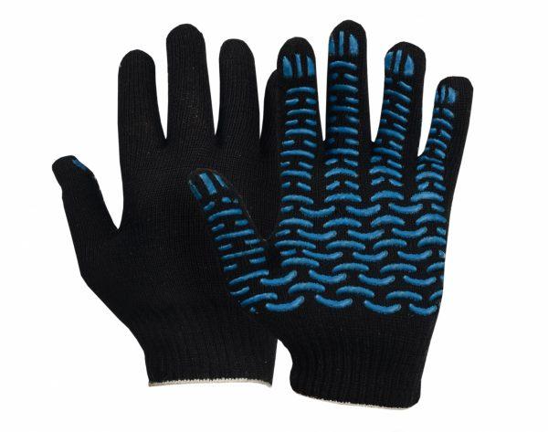 Перчатки ХБ ПВХ (5/7,5) плотные черные (10/300) ЛТ, пар