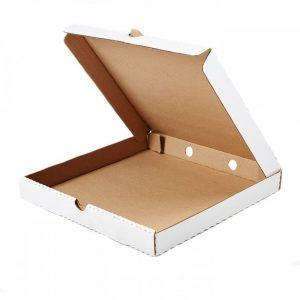 Коробка под пиццу 250*250*45мм*50 белая, шт