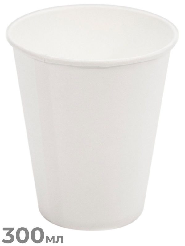 Стакан бумажный белый 175мл/1500, шт