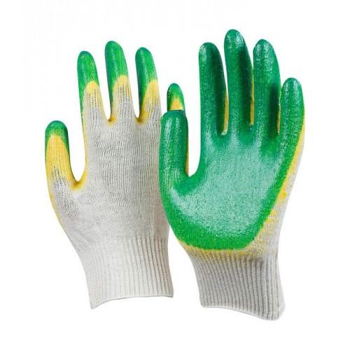 Перчатки ХБ с 2-м латексным покрытием (10/100), пар
