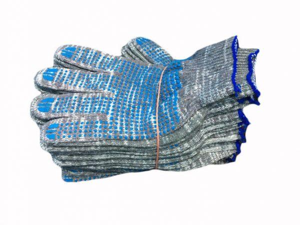 Перчатки ХБ ПВХ (5/10) графит (10/300) ЛТ, пар