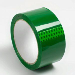 Клейкая лента 48*66/40мкм зеленая (36), шт