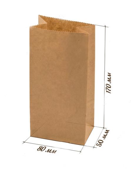 Мешок бумажный 175*80*50 крафт , шт