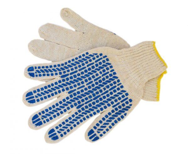 Перчатки ХБ ПВХ (6/7,5) плотные белые (10/300) ЛТ, пар