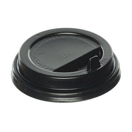 Крышка D-90 мм ЧЕРНАЯ  с клапаном (50 шт. уп/1000 шт. кор), шт