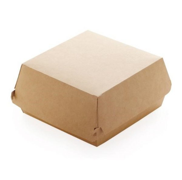 Коробка под бургер 120*120*70 бурая (300шт), шт